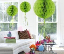 Honeycomb bal lime groen 30cm