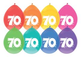 Ballonnen 8st. cijfer 70