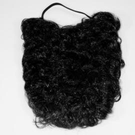 Baard + snor zwart (35cm)