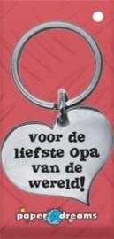 Hart sleutelhanger - opa