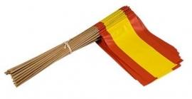Vlaggetje op stok papier Spanje