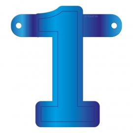 Banner Letter 1 Blue