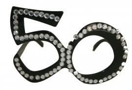 Bril 50 Jaar Zwart Diamantframe