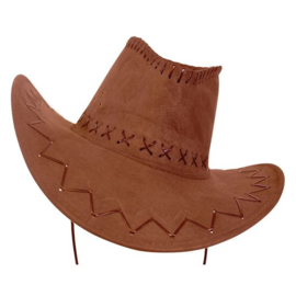Cowboyhoed lederlook beige