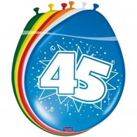 Ballonnen 8st. cijfer 45