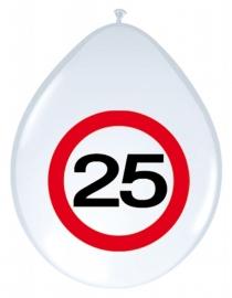 Ballonnen 8st. Verkeersbord 25