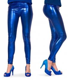 Legging metallic blauw mt. L/XL