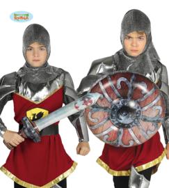 Opblaasset zwaard 58cm en schild 45cm