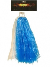 Cheerball met ringgreep blauw/wit