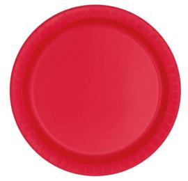 Borden 17 cm rood 8st.