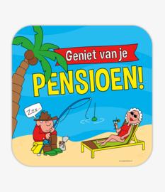 Verkeersbord Pensioen cartoon