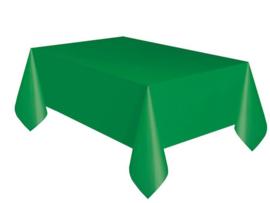 Tafelkleed plastic donkergroen 137x274cm