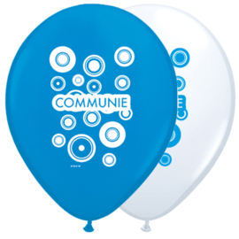Ballonnen Communie jongen 30cm 8st.