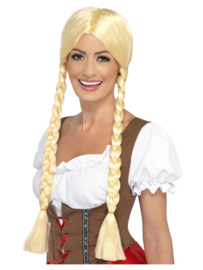 Pruik Bavarian beauty blond