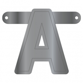 Banner Letter A Metallic Silver