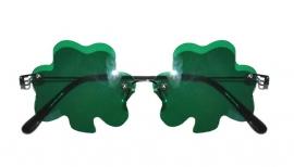 Happy St. Patrick's Day bril klaverblad groen