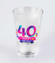 Happy shot glasses - 40 jaar (6 st.)