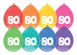 Ballonnen 8st. cijfer 80