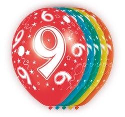 Ballonnen 5st.  9 jaar HE 30cm