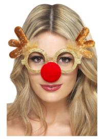 Bril Reindeer Comedy Specs, Gold