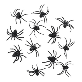 Spinnen zwart ca. 2-3 cm (12st)