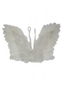 Engelenvleugels veren wit kind mt. 45x30cm