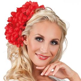 Haar accessoire Dahlia rood