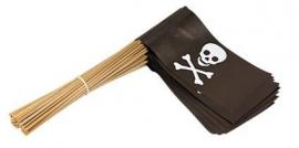 Vlaggetje op stok papier piraat