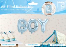 Ballonnenkit Boy blauw (luchtgevuld) 36cm