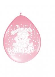 Ballonnen 8st. meisje