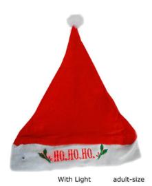 Kerstmuts Ho-ho-ho met licht