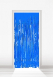 Deurgordijn folie blauw lxb = 2x1m