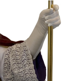 Handschoenen wit luxe (40cm, mt L)