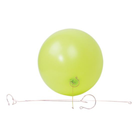 Ballondraagstaafjes metaal p/s