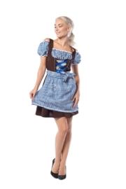 Dirndl Anne-Ruth blauw/bruin mt.36