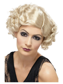 Pruik 20s Flirty flapper blond