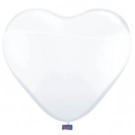 Ballonnen 8st. hartjes wit