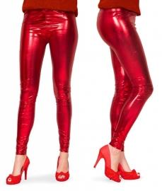 Legging metallic rood mt. L/XL