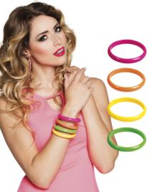 Armband set 4 neon kleuren