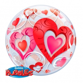 22In Bubble Hearts