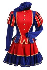 Piet dame Murcia mt. M rood/blauw