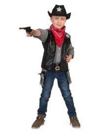 Cowboy vest zwart mt.116