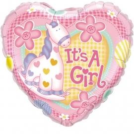 Folieballon It's a girl pony