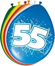 Ballonnen 8st. cijfer 55