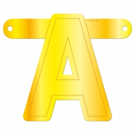 Banner Letter A Yellow