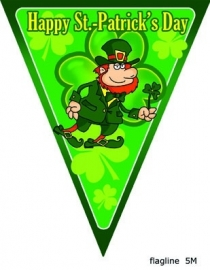 Happy St. Patrick's Day vlaggenlijn 5m.