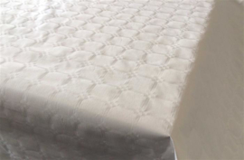Tafelkleed damast wit 8m x 118cm