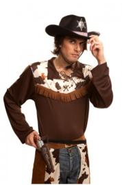 Cowboyhoed met ster zwart