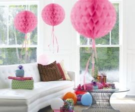 Honeycomb bal baby roze 30cm