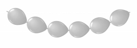 Knoopballonnen zilver 3 mtr/8 st